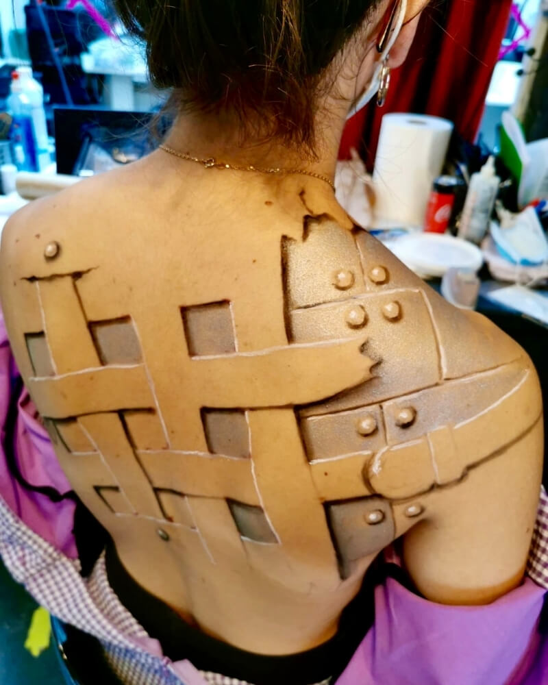 Body painting - exemple 3